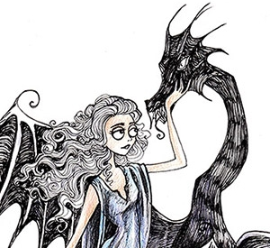 The Game of Thrones Characters in the Dark and Odd Style of Tim Burton