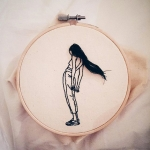 The Poetic Sketch Embroidery by Sheena Liam