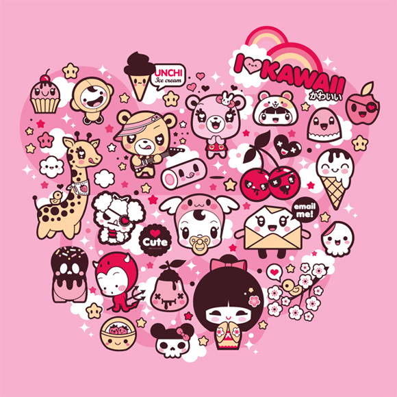 Charuca - I Love Kawaii, happy kawaii character, personaggi felici e kawaii