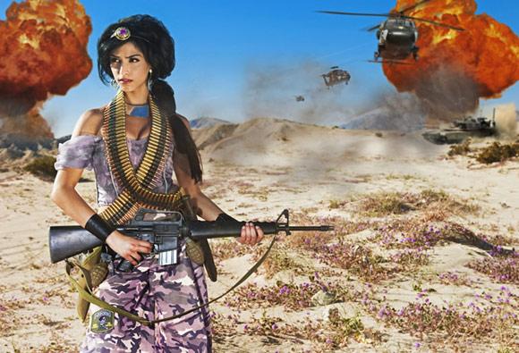 Dina Goldstein - Principesse - Princess - Disney -  Jasmine