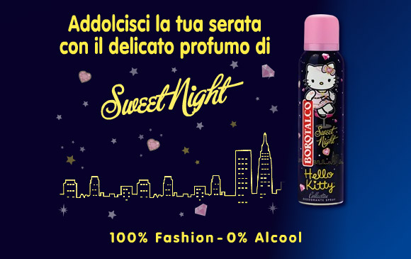 Hello Kitty Borotalco Deodorante Sweet Night