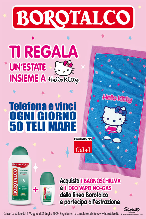 Hello Kitty Borotalco Deodorante Contest