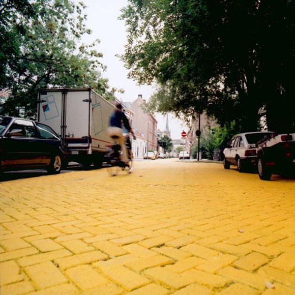 Florentijn Hofman - Yellow Street - Strada Gialla - Schiedam - Olanda - Netherlands - Paesi Bassi