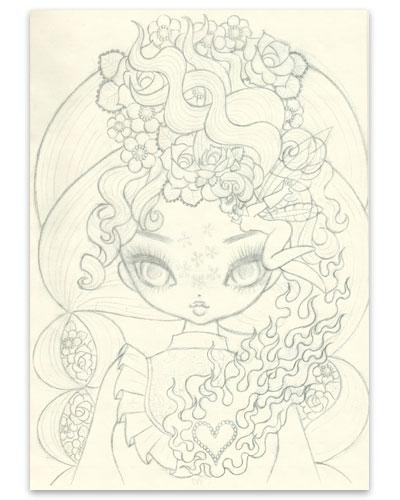 Junko Mizuno - Anne - sketch - kawaii - cute