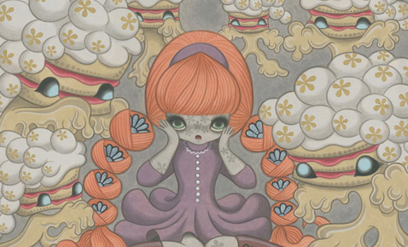 junko-mizuno_layer-cake-monsters_2009_kawaii_cute_Red Tresses and Freckles