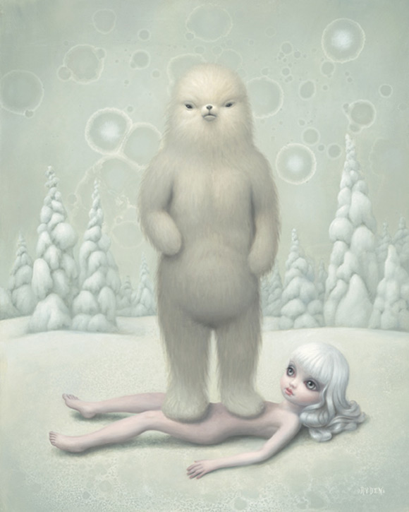 mark-ryden_the-snow-yak-show_abominable_kawaii_white_yeti