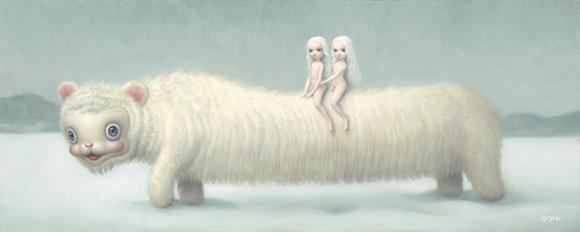 mark-ryden_the-snow-yak-show_long-yak_white_kawaii