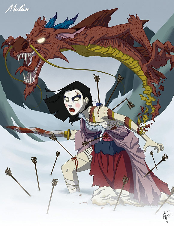 Mulan Disney Princess Dark