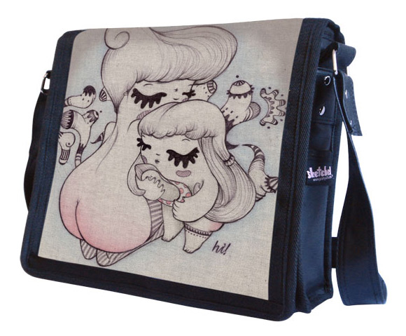 kawaii - hi! - Maria Vittoria Benatti - shoe - fetish - cute - sedere - gambe - bottom - legs - pin-up - girl - illustration - illustrazione - pupette - scarpa - bag - borsa - sketchel