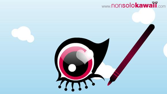 kawaii -  boyfriend - ragazzo - fulvio - makeup - contest - funny - divertente - trucco - youtube - animazione - cute - dolce - illustrazione - matita - pencil - kajal