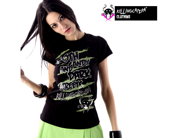 killing capera - francesco balzano - kawaii - gothic - emo - dark - t-shirt - street - octopus - piovra - polipo - girl - black - nero
