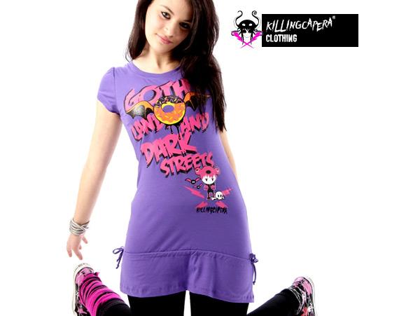 killing capera - francesco balzano - kawaii - gothic - emo - dark - t-shirt - street - wody - bear - orso - ragazza - girl - dead - violet - viola