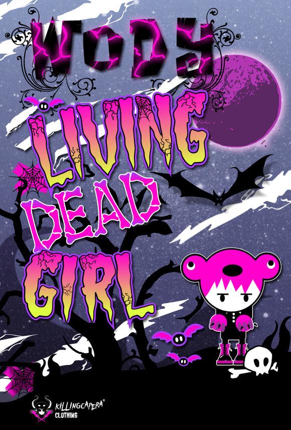 killing capera - francesco balzano - wody - bear - orso - dead - kawaii - horror - emo - gothic - street - illustration - illustrazione