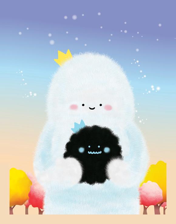Bubu - Tummies Friends - illustration - kawaii - cute - white - black - plush - Bittersweet Friendship