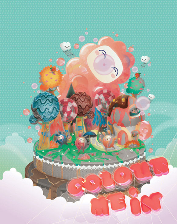 Bubu - Tummies Friends - illustration - kawaii - cute - candy - cake - clementine - bupla - world - colors