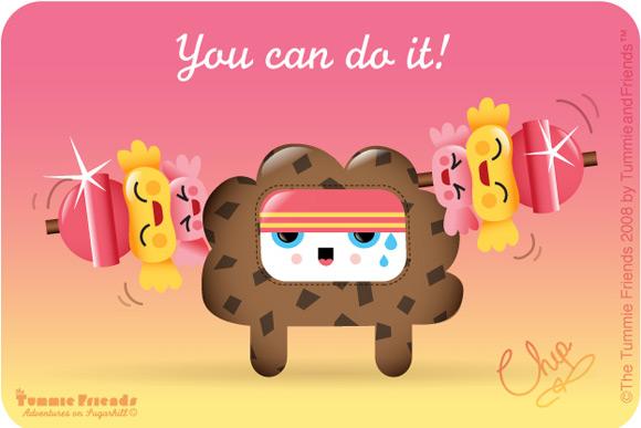 bubu - Tummies Friends - illustration - kawaii - candy - cake