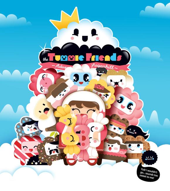 Bubu - Tummies Friends - Exhibition - DNM - Hong Kong - Flyer - illustration - kawaii - candy - cake