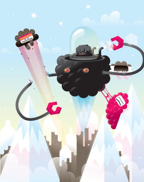 Bubu - Tummies Friends - illustration - kawaii - loulou - ufo - Thake this