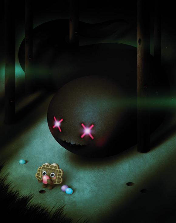 Bubu - Tummies Friends - illustration - kawaii - cute - candy - cake - biscuit - black - mark verhaagen - The Harvest