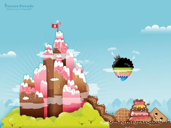 Bubu - Tummies Friends - illustration - kawaii - candy - cake - sugahill - chocovalley - bittercity - world