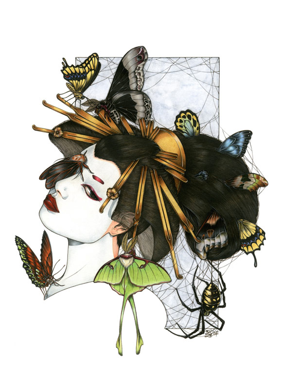 Zoe Lacchei - Geisha Project - Geisha with Spider