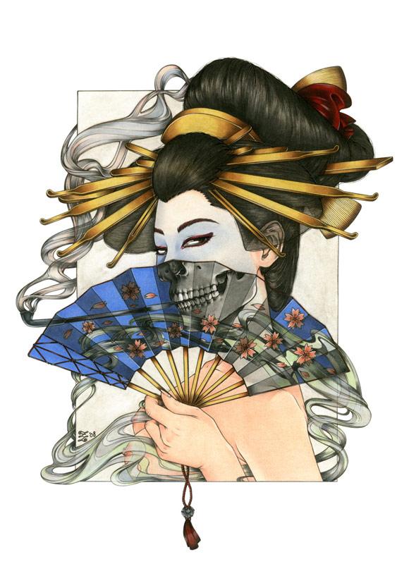 Zoe Lacchei - Geisha Project - Geisha with the Fan
