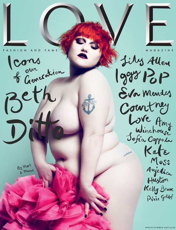 The LOVE Magazine spring/summer 2009 - Cover Beth Ditto