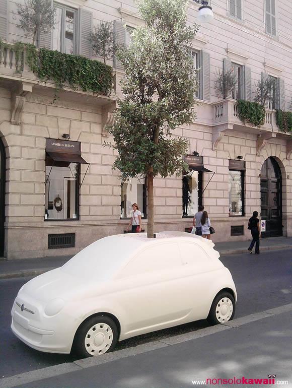 Per fare un albero - Fiat 500 via Montenapoleone, Milano