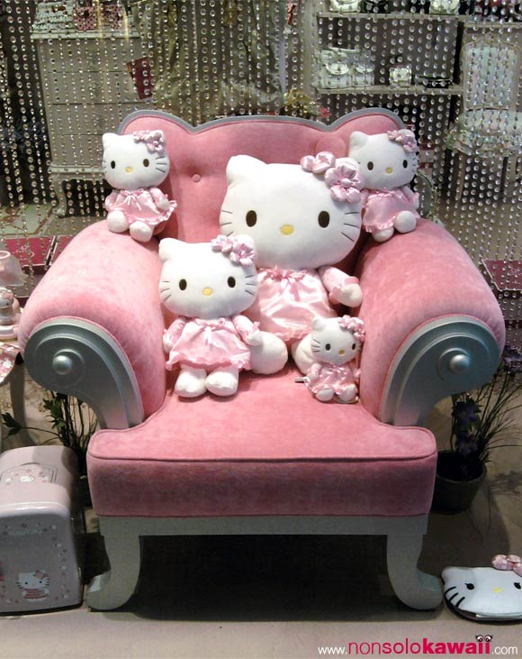 hello kitty - poltrona - pink - rosa - sanrio - kawaii - cute - armchair