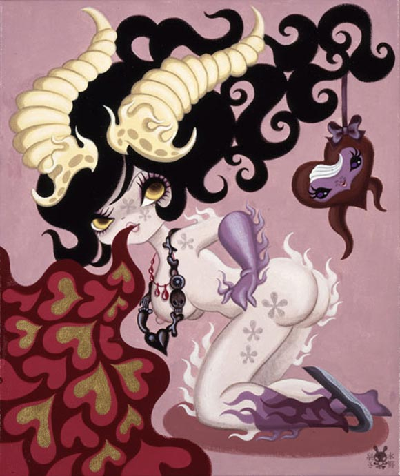 junko mizuno flare kawaii cute horny purple corna viola
