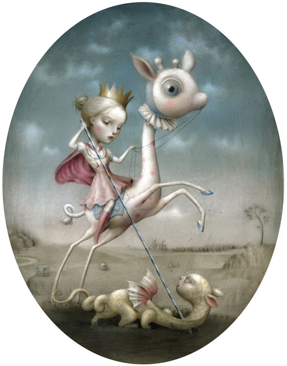 nicoletta ceccoli - princess - kawaii - prey - dragon - cavallo - drago - principessa - romantic