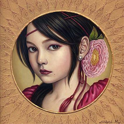 Shiori Matsumoto - Girls Heart, 2007, 23.0×23.0cm, Acrylic, Oil on wood