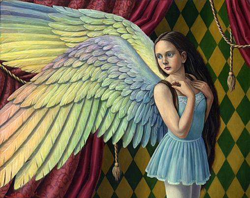 Shiori Matsumoto - Fly Away, 2003, 27.3×22.0cm, Oil on canvas