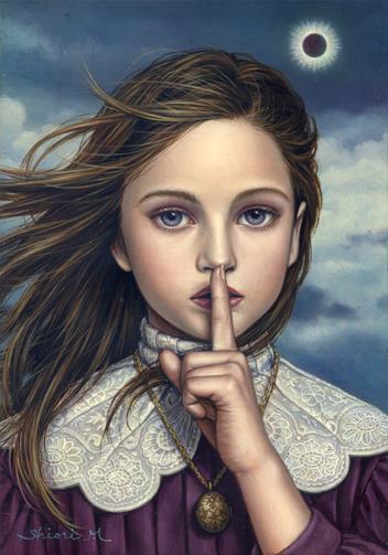 Shiori Matsumoto - Secret Promise, 2006, 22.7×15.8cm, Oil on canvas
