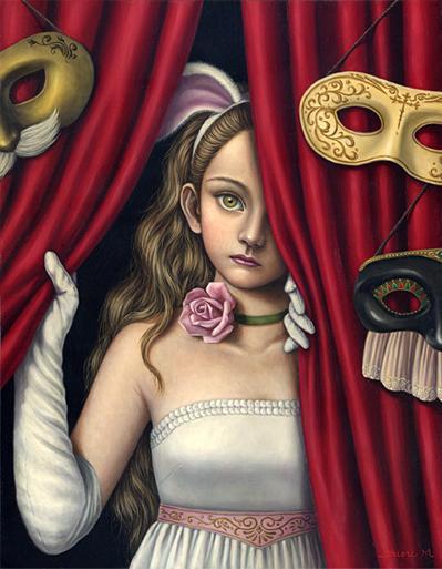 Shiori Matsumoto - Mask Party, 2005, 40.9×31.8cm, Oil on canvas
