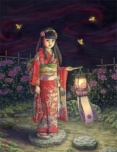 Shiori Matsumoto - Peony Lantern, 2007, 40.9×31.8cm, Oil on canvas