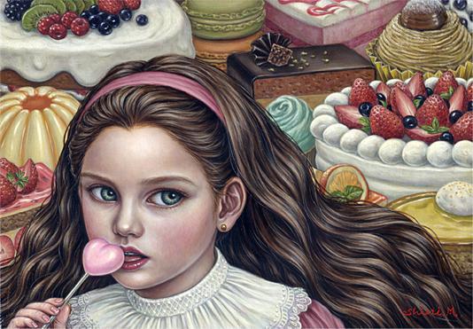 Shiori Matsumoto - Sweets Addict, 2009, 15.8×22.7cm, Oil on canvas
