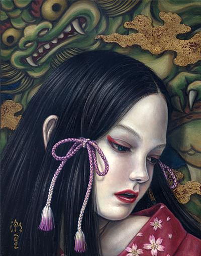 Shiori Matsumoto - Meditation, 2008, 18.0×14.0cm, Oil on canvas