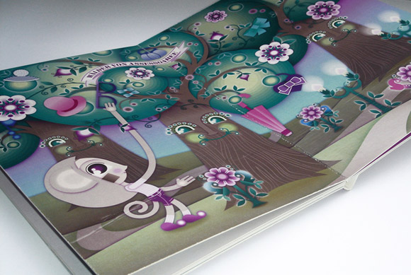 kawaii - natalie birkle - schlaraffenland - illustration - vector - vettoriale - cs3 - cute - three - albero