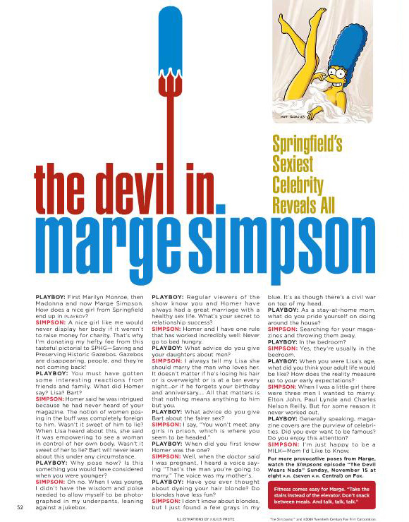 The devil in Marge Simpson - Playboy November 2009