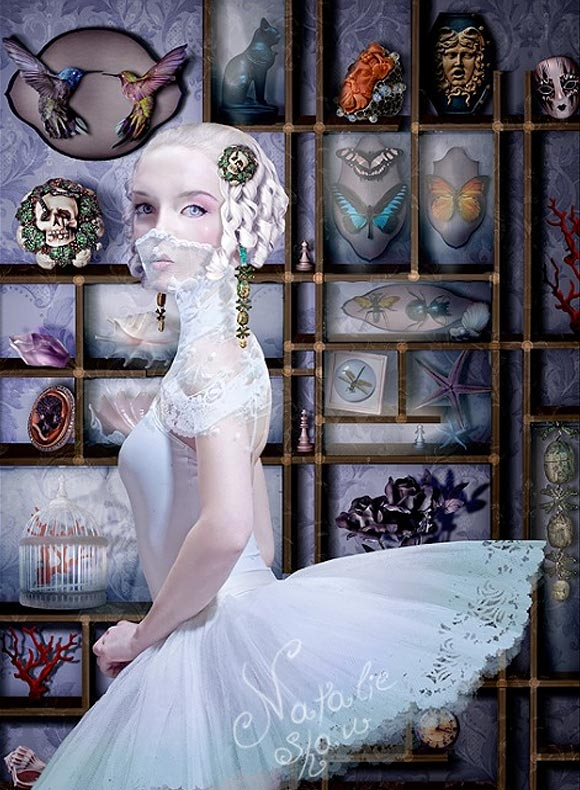 Natalie Shau, painting, dream, Lydia Courteille, jewelry, jewel, bijoux, advertising