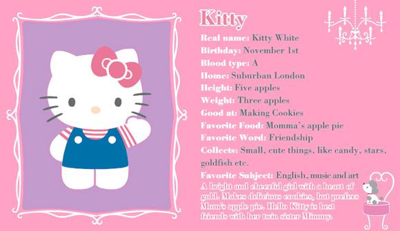 hello kitty - sanrio - id card - identity - card - carta d'identità