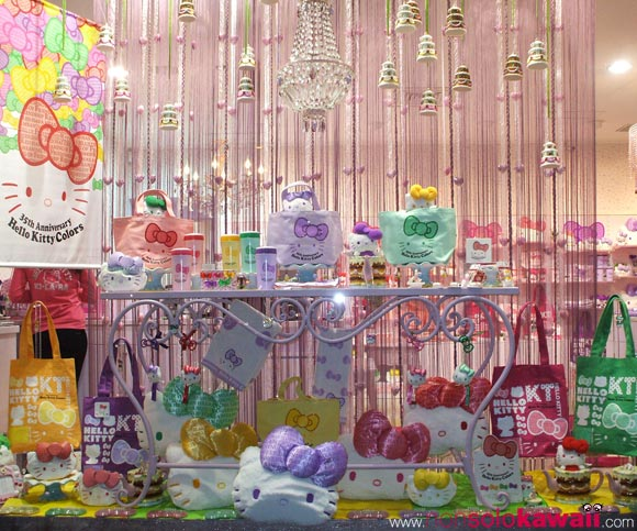 kawaii - cute - 35th Anniversary - Hello Kitty Colors - shop window - sanrio - vetrina - navigli