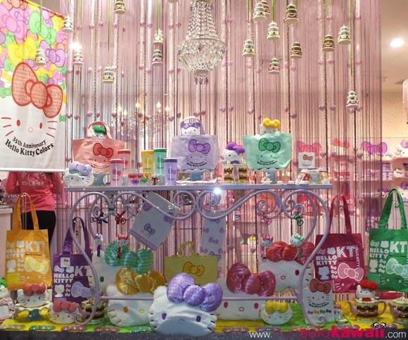 kawaii - cute - 35th Anniversary - Hello Kitty Colors - shop window - sanrio - vetrina - navigli