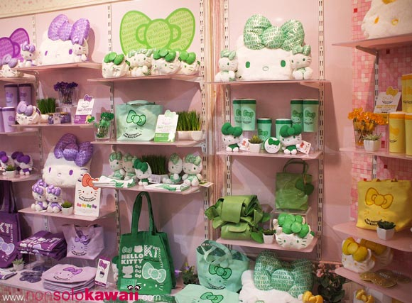 kawaii - cute - 35th Anniversary - Hello Kitty Colors - shop window - sanrio - plush - bags - peluche - borse - navigli