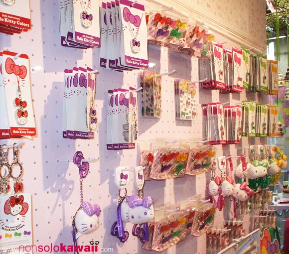 kawaii - cute - 35th Anniversary - Hello Kitty Colors - shop window - sanrio - accessories - charms - navigli