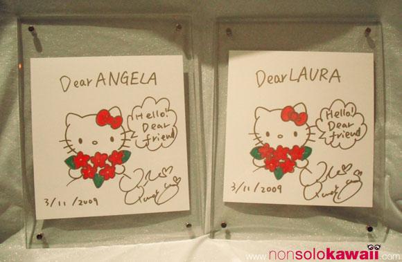 35th Anniversary - Hello Kitty - Sketch - autographed - autografo - yuko yamaguchi - non solo Kawaii - kawaii - cute