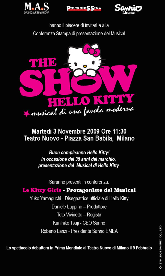 Hello Kitty the Show - Sanrio - Press Conference - Conferenza Stampa