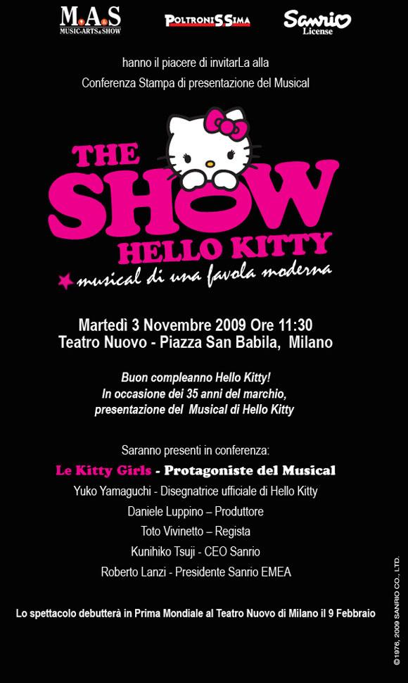 Hello Kitty the Show - Sanrio - Press Conference - Conferenza Stampa
