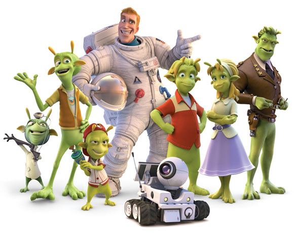 Planet 51, cast, Lem, Skiff, Neera, General Grawl, Professor Kipple, Eckle, Glar, Captain Charles Chuck Baker